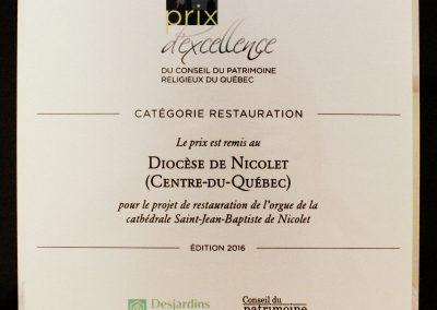 Prix d'excellence du Conseil du patrimoine religieux du Québec